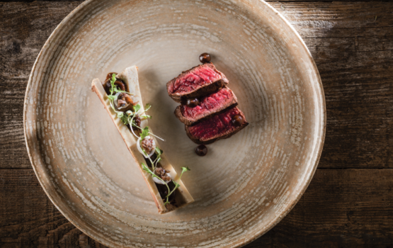 Aged Highland Beef – Fermented Garlic & Roscoff Onion